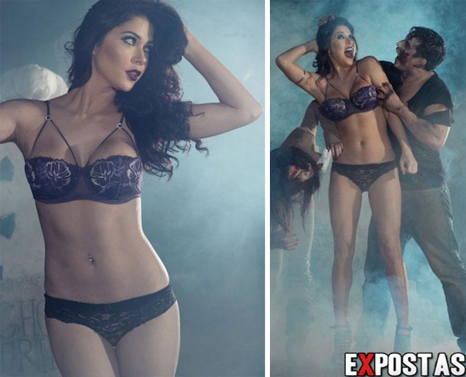 Arianny Celeste: lingerie halloween photoshoot - Outubro de 2012