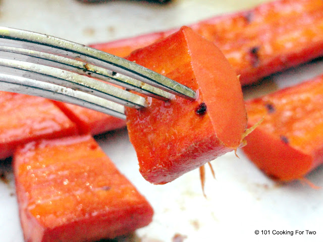 Honey Glazed Grilled Carrots from 101 Cooking For Two