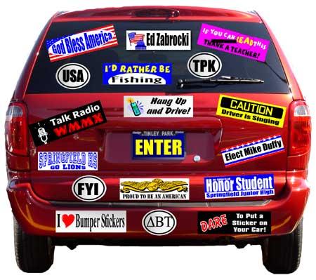 obama bumper stickers funny. Sticker