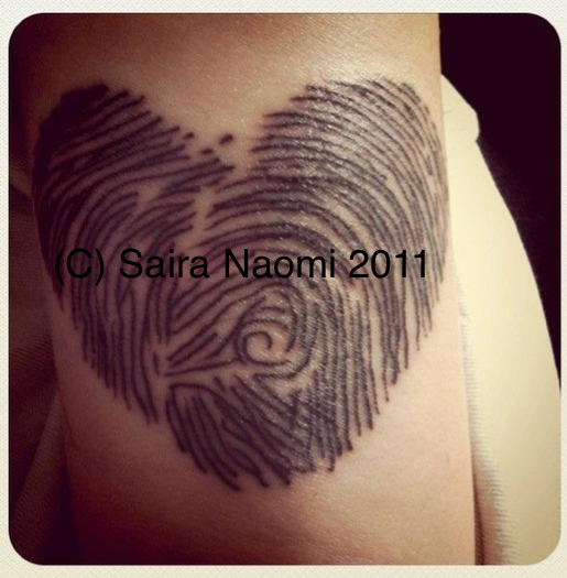 Heart Fingerprint Tattoo