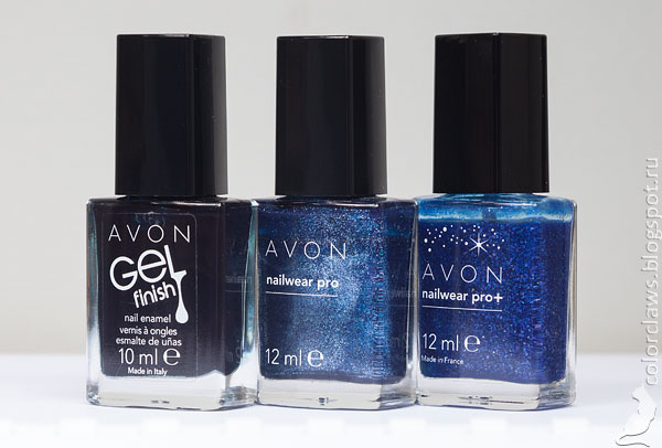 Avon Gel Finish Antarctic + Nailwear Pro+ Celestial Blue + Nailwear Pro Splendid Blue