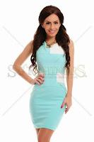 Rochie PrettyGirl Squared Turquoise (PrettyGirl)