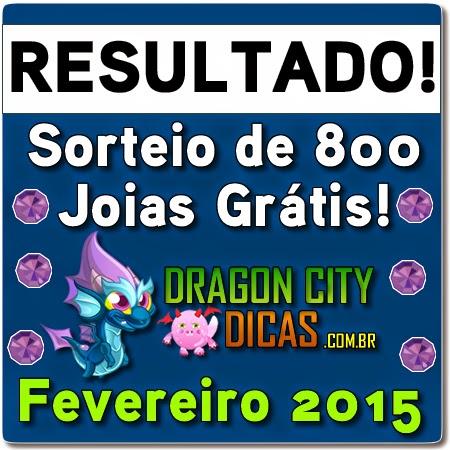 Resultado do Super Sorteio de 800 Joias - Fevereiro 2015