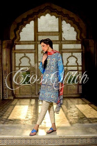 Cross Stitch Lawn Dresses Collection 2014