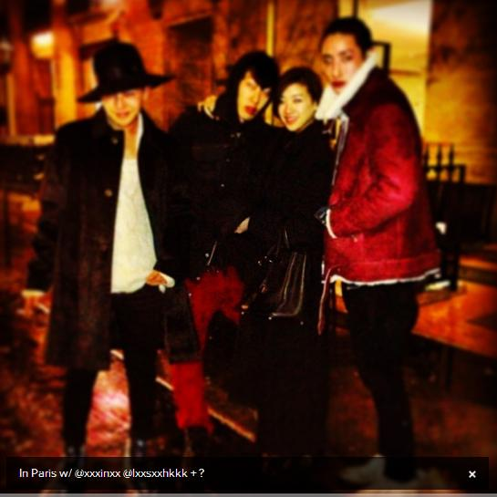G-Dragon in Paris with Lee Soo Hyuk & Yanggaeng 130121