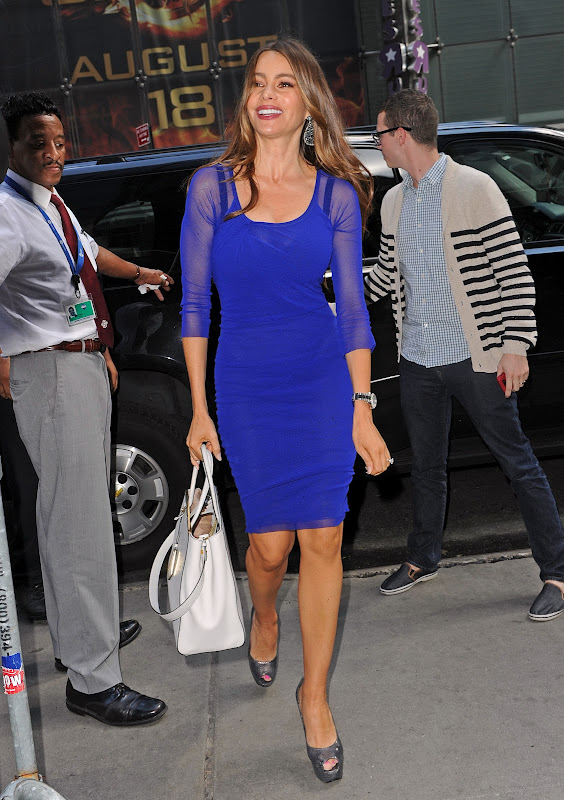 Sofia Vergara arrives at ABC Studion in NY