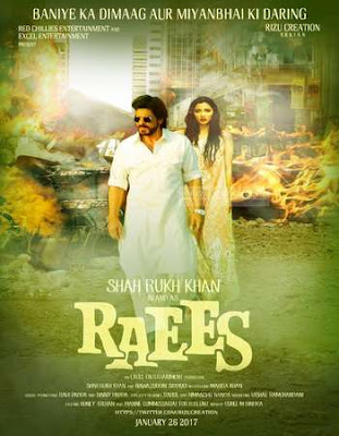 Poster of Raees 2017 Theatrical Official Trailer Free Download HD 720P