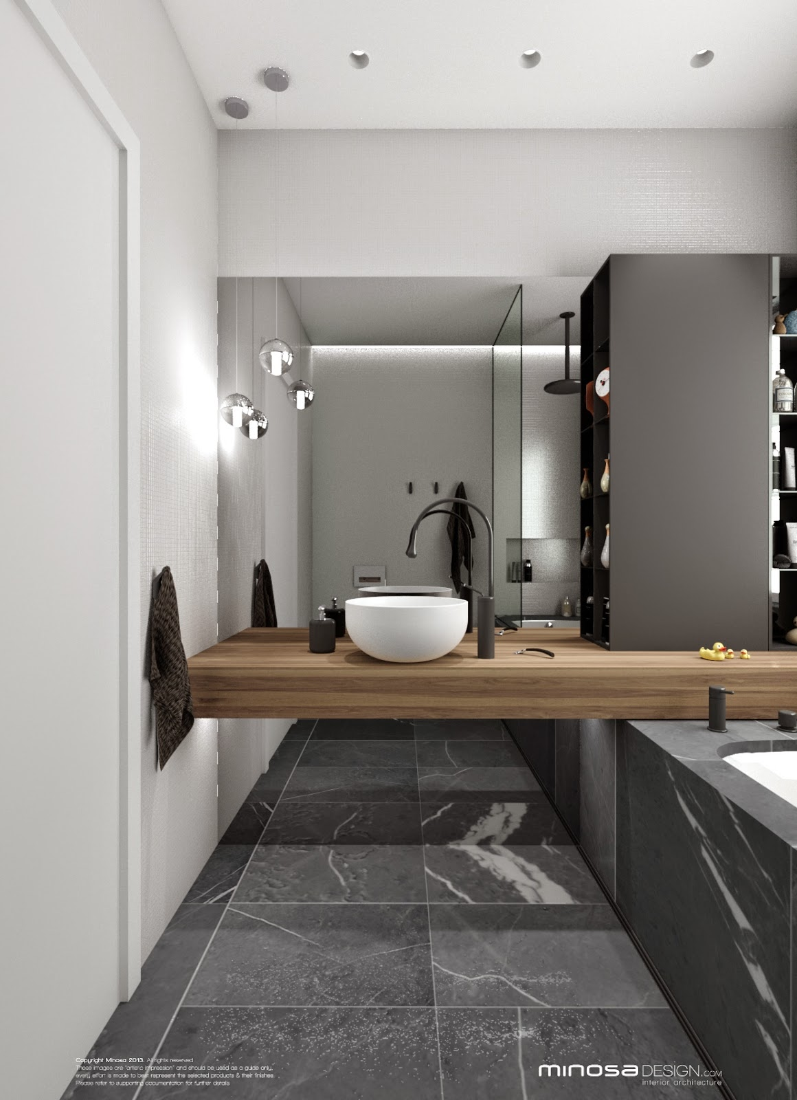 Minosa bathroom design small space feels large for Main bathroom designs