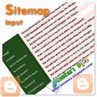 Sitemap Table TOC input for blogspot ves 2