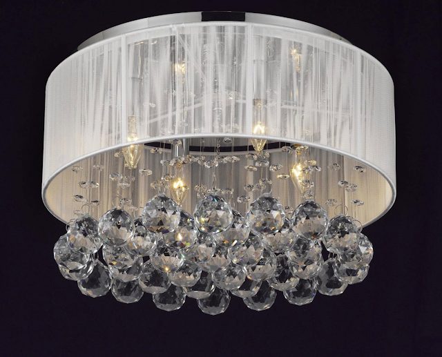 4 Light Crystal Chandelier by Harrison Lane