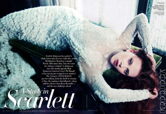 Scarlett Johansson by Mario Sorrenti for Vanity Fair December 2011