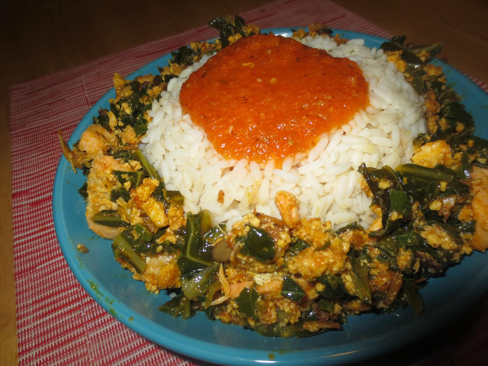 Nigerian Food: Efo and Egunsi