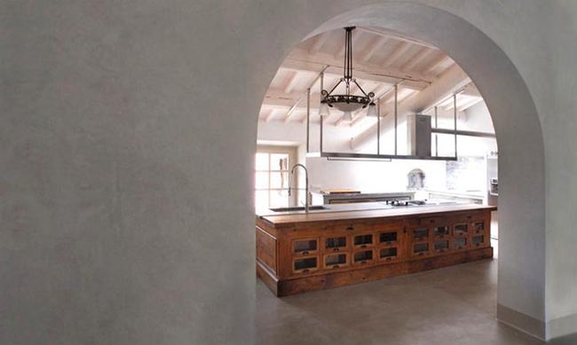 cocina isla con mueble vintage contemporanea