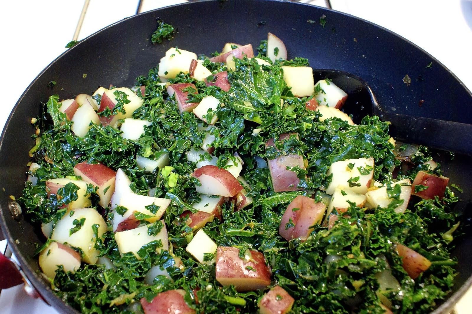 Potato-Kale enchilada filling