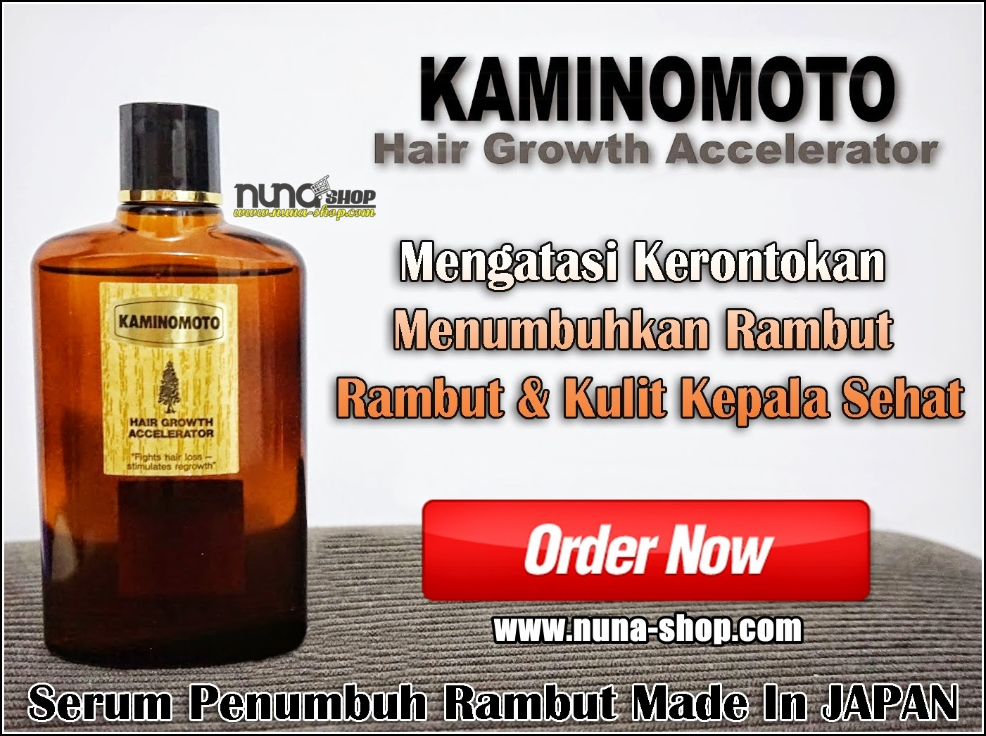 Kaminomoto Hair Growth Accelerator Serum Penumbuh Rambut Anti Botak