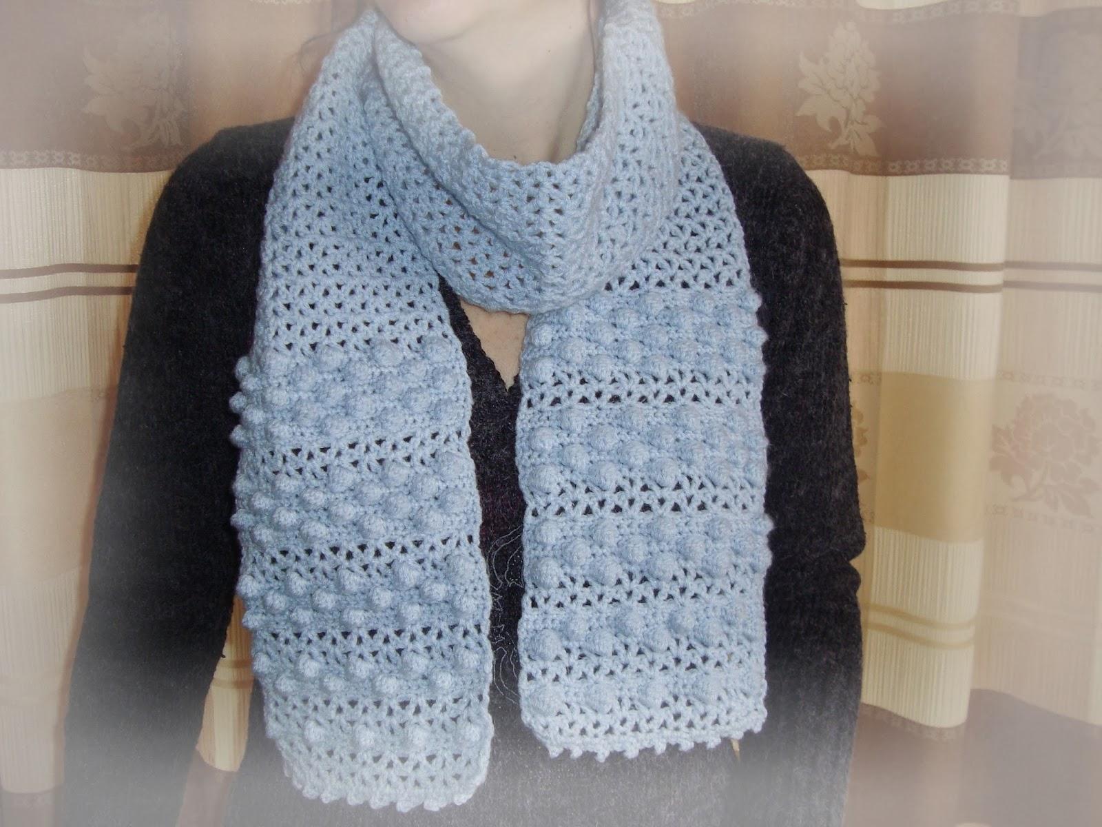 Handmade by Camelia: Pattern: V-Stitch and Bobble Scarf ...