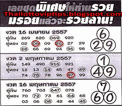 Thai Lotto Tass Game 16-05-2014