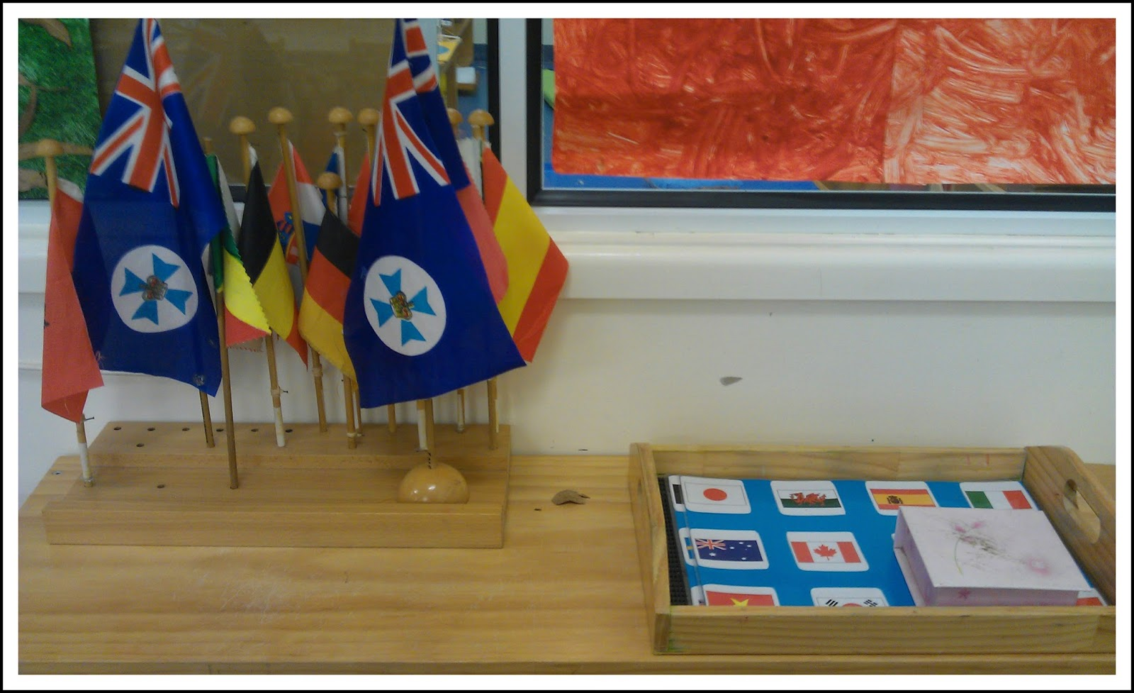 Teaching geography in the montessori classroom montessori nature flag activity gumiabroncs Images