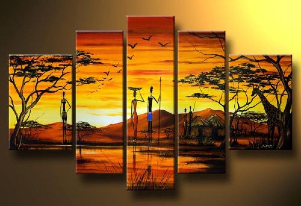 Pinturas que me gustan pintura de africa for Imagenes cuadros abstractos modernos