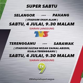 live streaming Selangor Vs Pahang 4 Julai 2015