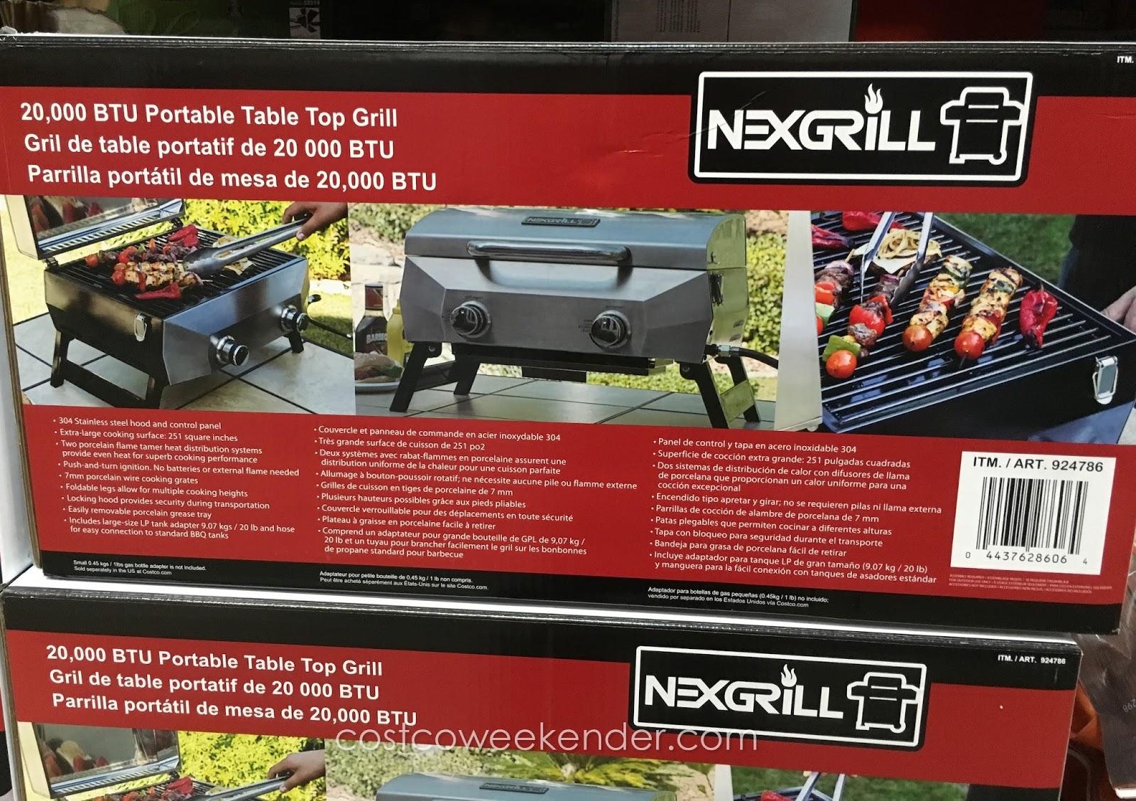 Costco Portable Bbq : Nexgrill btu portable table top grill costco