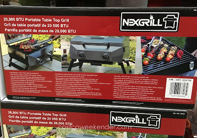 Tailgate during the big game with the Nexgrill 20,000 BTU Portable Table Top Grill
