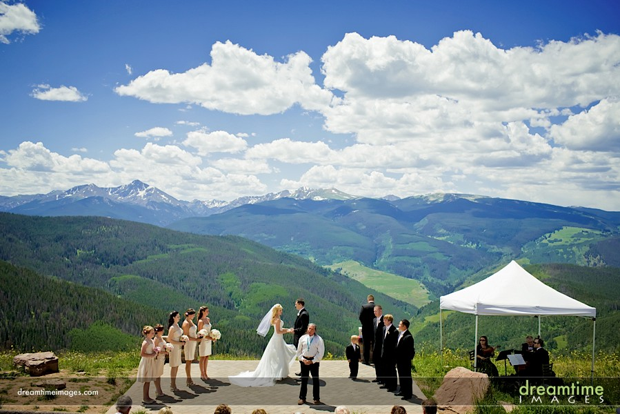 the epic mountain view from the vail wedding deck