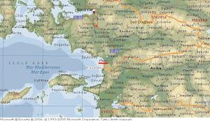 Mapa de Éfeso