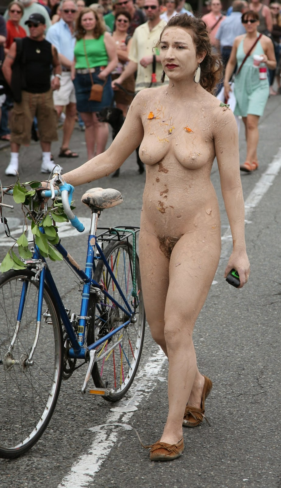 Public nude ina parade something is