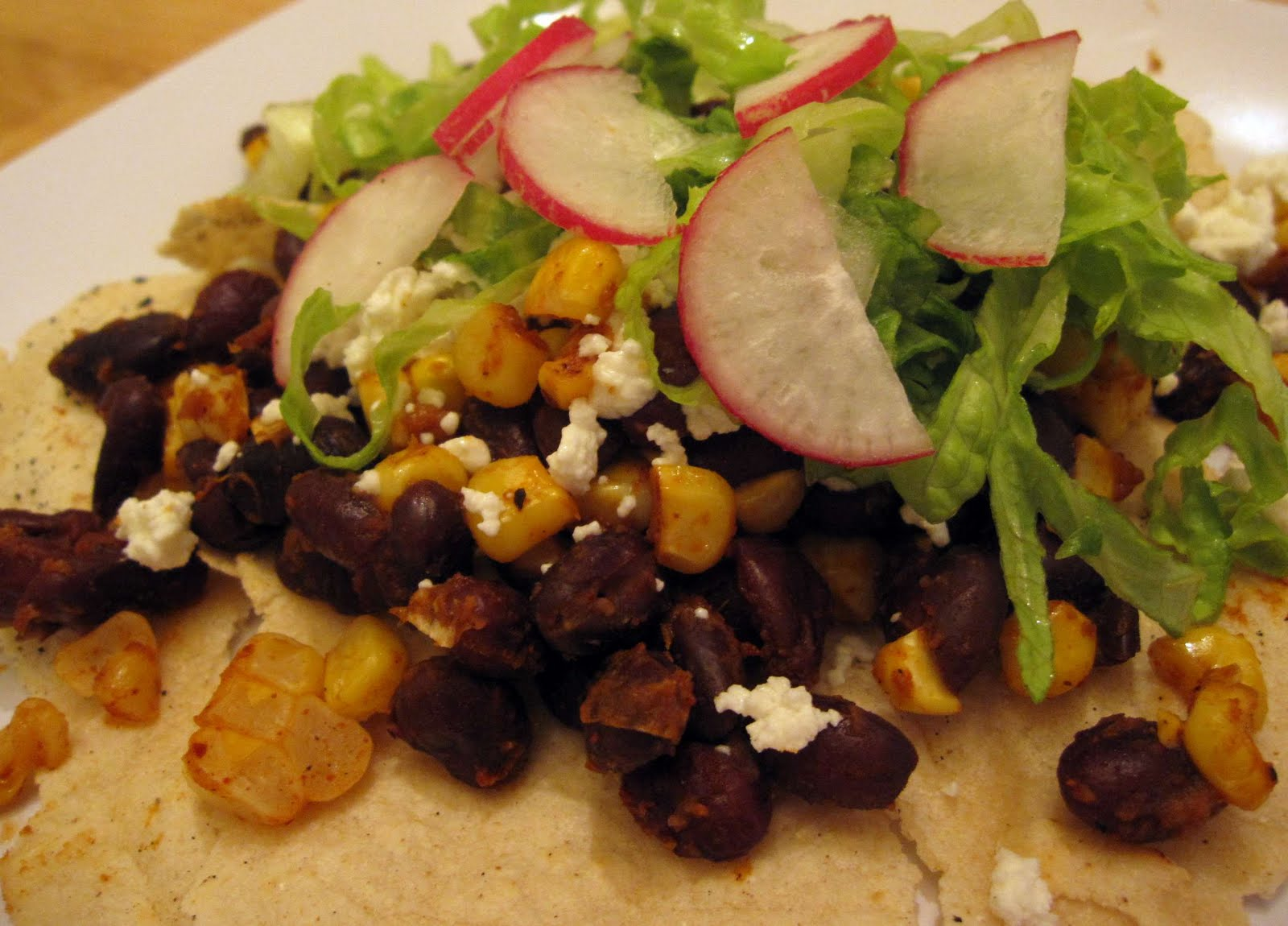 The Scratch Patch: Black Bean, Corn and Goat Cheese Tacos