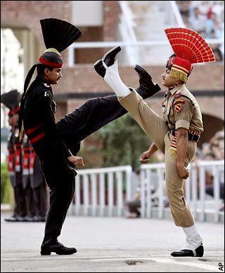 Cambio de guardia India Pakistan