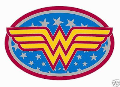 Dynamic image inside wonder woman printable logo