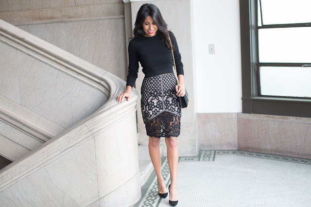 how to wear black lace skirt, stylestalker lace, valentines day outfit