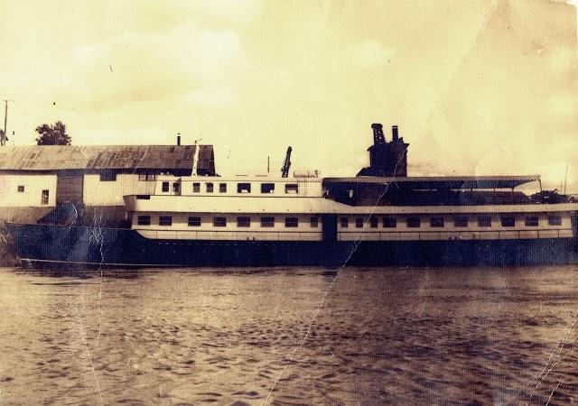 Anos 60: construção do navio Epitácio Pessoa.