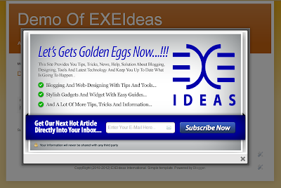 Awesome EXE-Style POP-UP V1 Widget For Blog And Website.