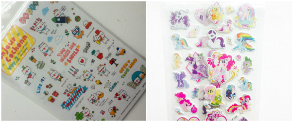 Kawaii and my little pony stickers @ ups and downs, smiles and frowns