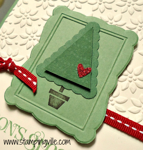 Christmas Tree with Stampin' Up! Pennant Parade Stamp Set