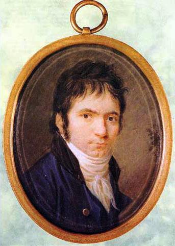 Beethoven, miniatura de Horneman - 1802