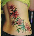 flower tattoo for girls on the side