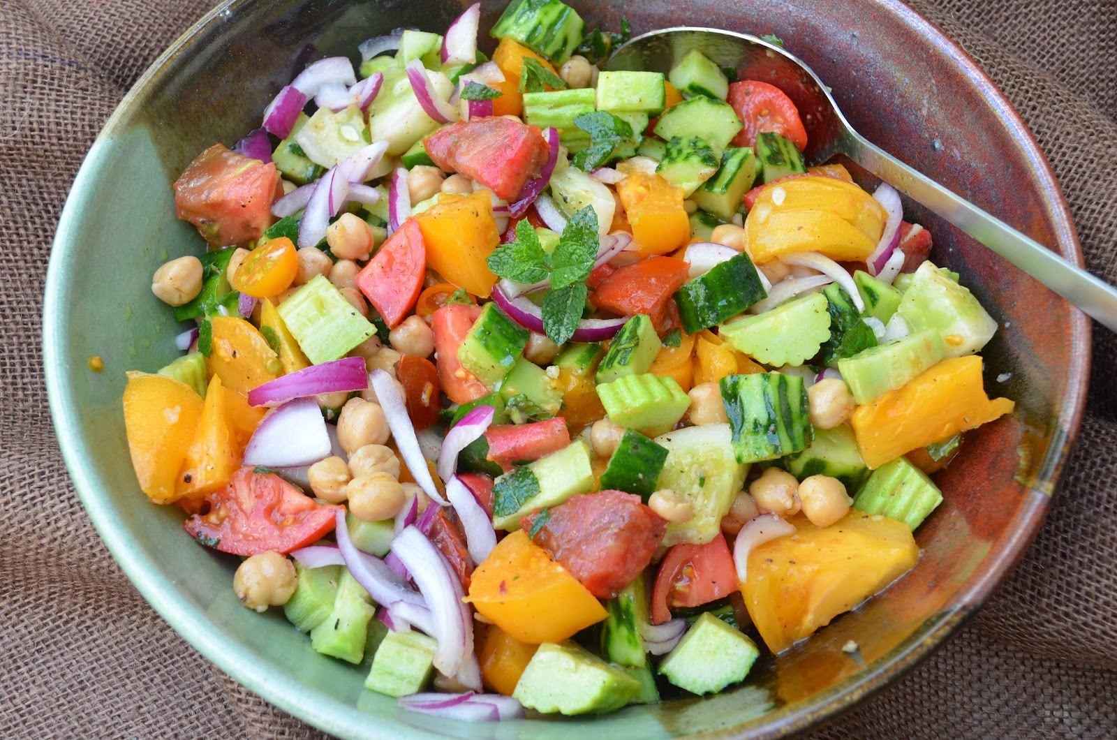 cucumber tomato salad ingredients 2 3 pounds assorted cucumbers and