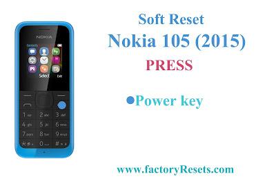 Soft Reset Nokia 105