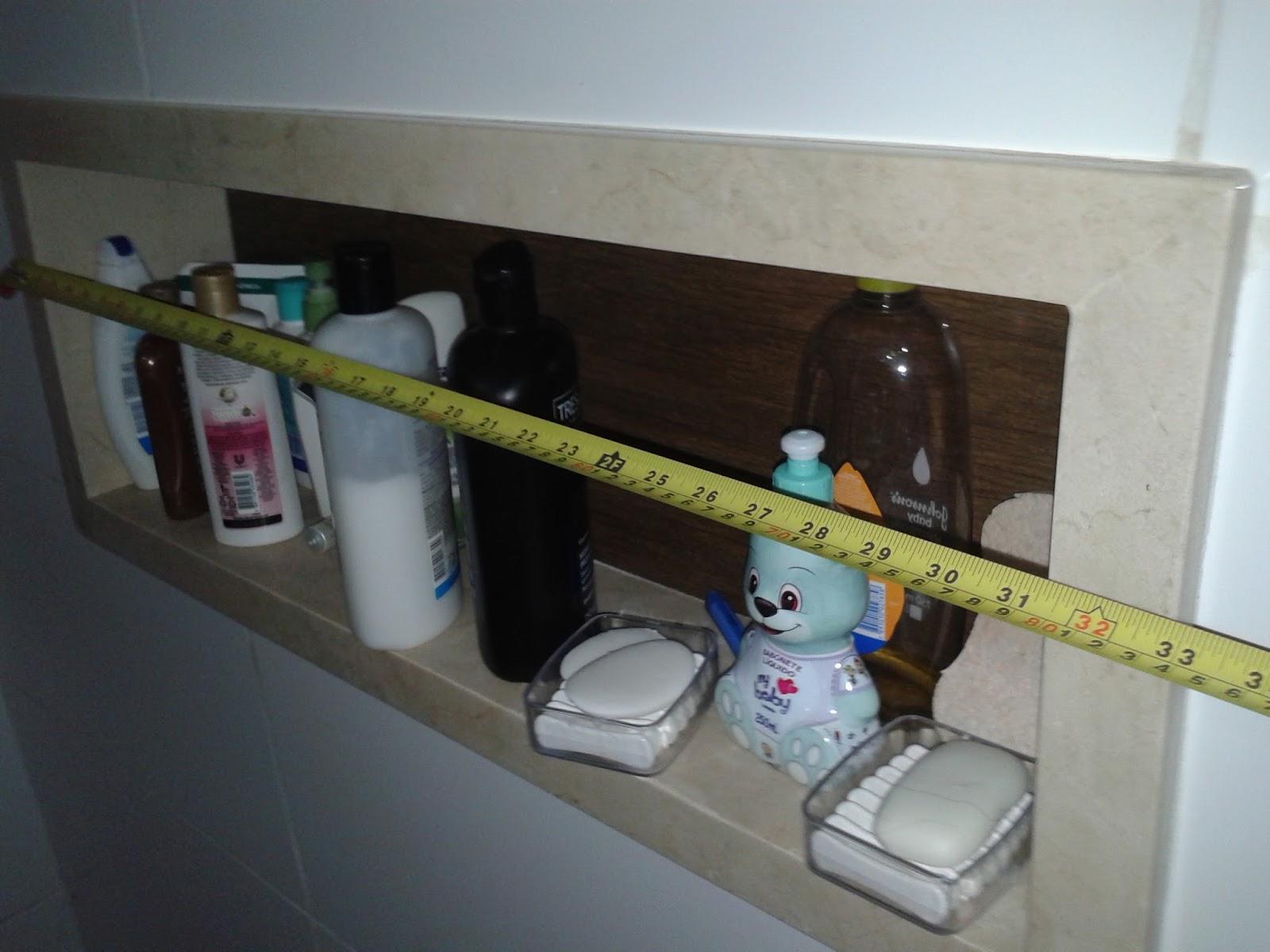 Meu par perfeitoConstruindo o meu lar Banheiro da suíte finalizado, metais, -> Nicho Banheiro Box Medidas