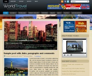 World Travel Blogger Template