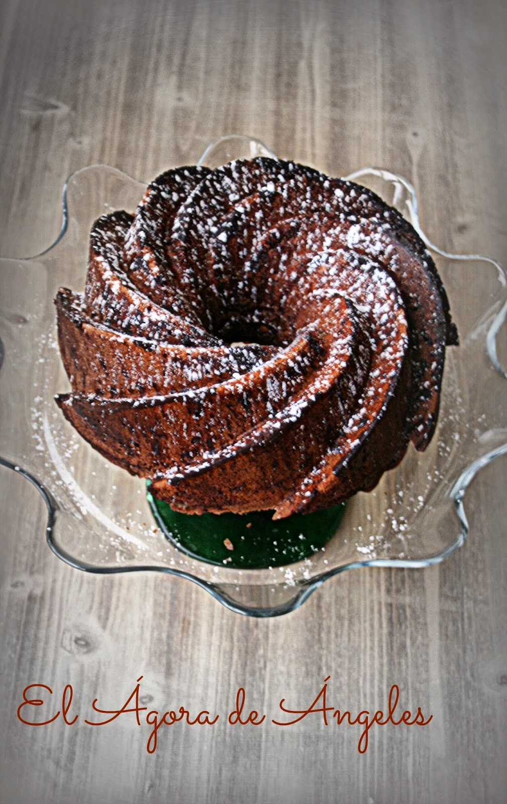 bundt cake de chocolate y café,