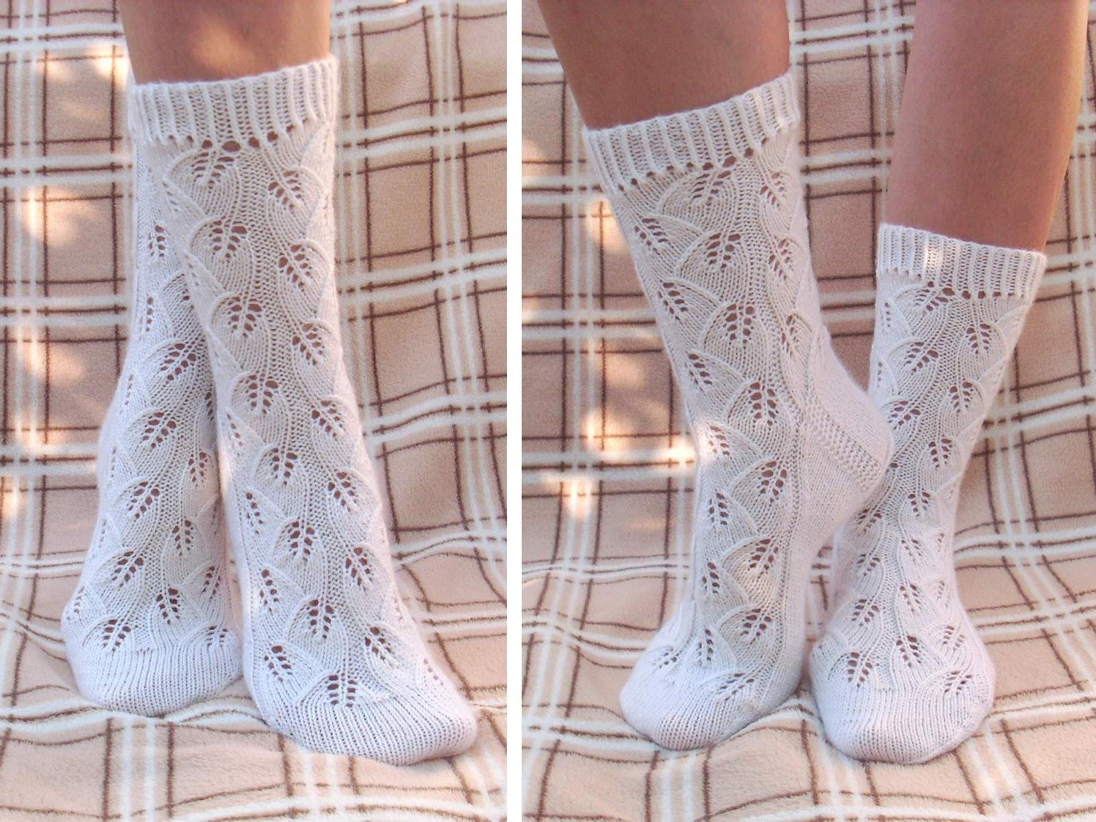 Вязание ажурных носков спицами мастер класс 31