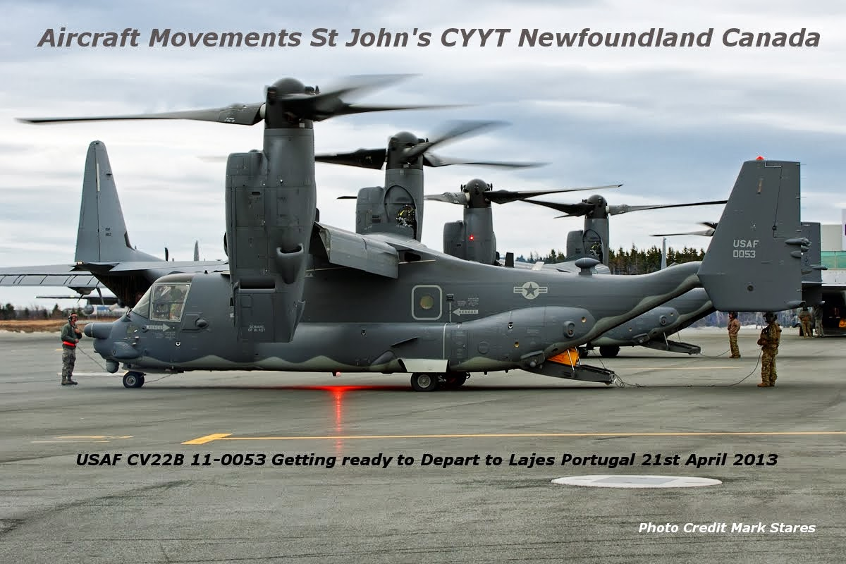 Aircraft Movements St Johns Canada