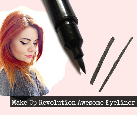 Make up revolution awesome double flick eyeliner review on british beauty blog.