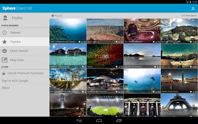 SphereShare.net - Aplikasi Tempat mencari dan berbagi Photo Sphere