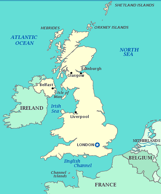 Map Location of Liverpool City in UK