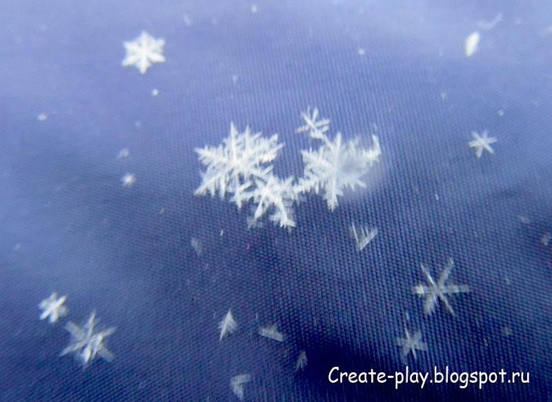 снежинка настоящая